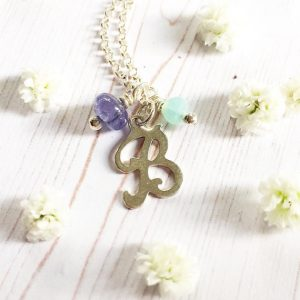Tanzanite Initial Necklace | Me Me Jewellery