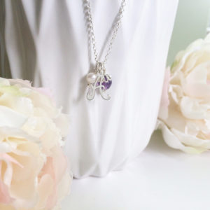Amethyst and Silver Charm Necklace | Me Me Jewellery