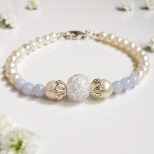 Blue lace agate and crystal bracelet | Me Me Jewellery
