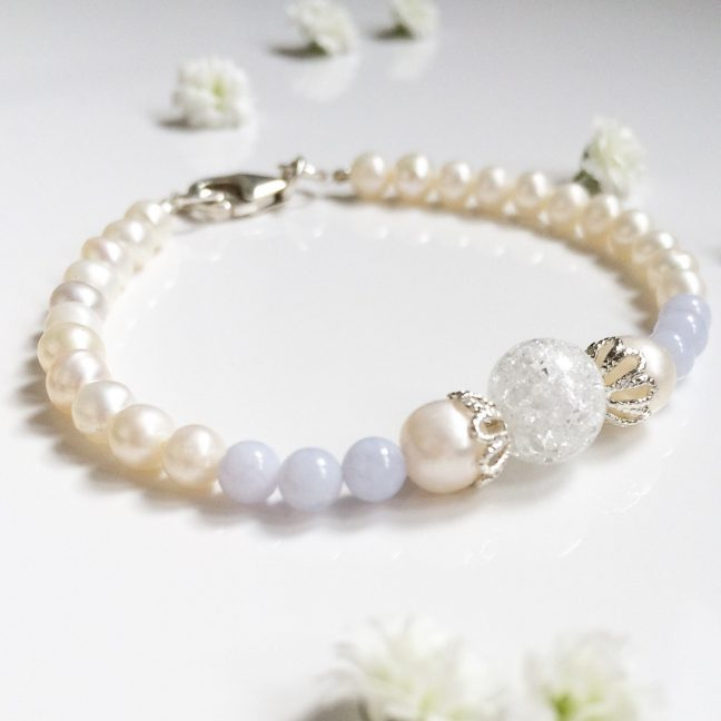 Blue lace agate bracelet | Me Me Jewellery