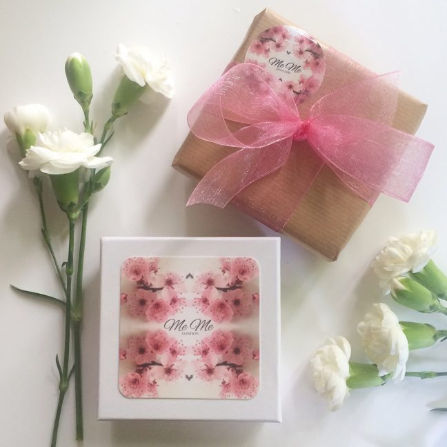 Me Me Jewellery gift wrapped box