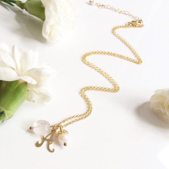 Gold initial necklace | Me Me Jewellery
