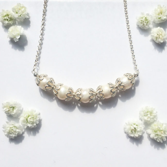 Silver Filigree Necklace   Me Me Jewellery