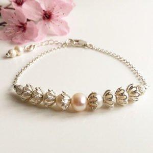 Freshwater Pearl Bridal Bracelet | Me Me Jewellery