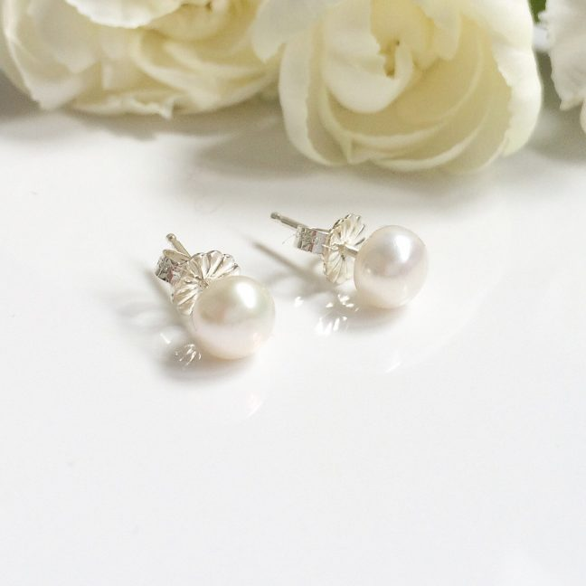 Pearl Stud Earrings | By Me Me Jewellery