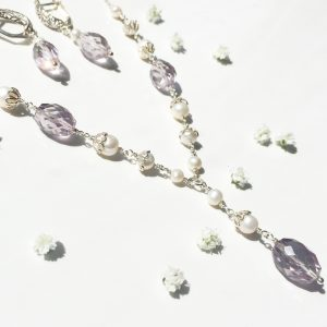 Pink Amethyst Necklace and Earrings | Me Me Jewellery