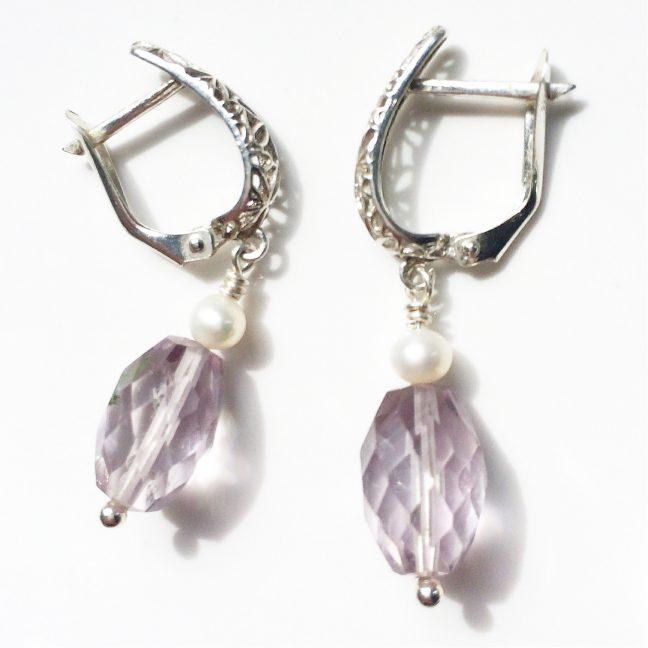 Pink Amethyst Earrings | Me Me Jewellery