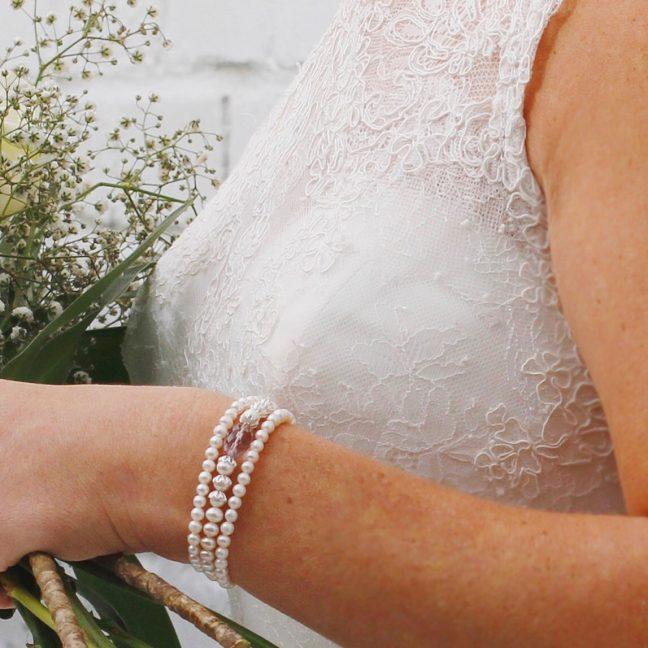 Three starnd pearl bracelet | Me Me Jewellery