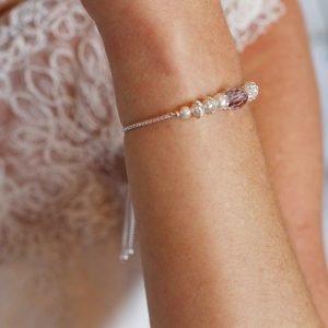 Pink Amethyst Slider Bracelet | Me Me Jewellery