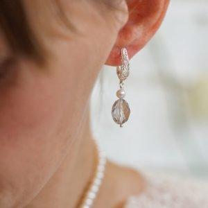 Pink Amethyst and Pearl Earrings | Me Me Jewellery