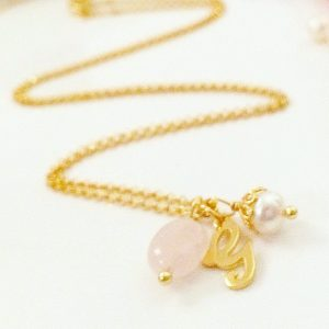 Gold Initial Necklace | By Me Me Jewellery