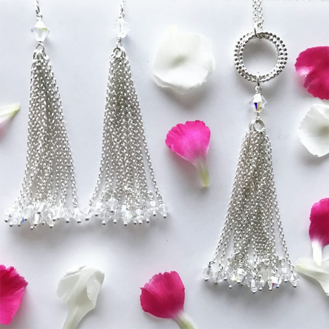 Tassel necklace and earrings | By Me Me Jewellery