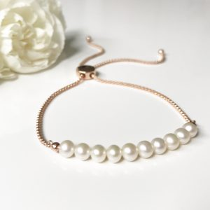 Rose gold slider bracelet | By Me Me Jewellery