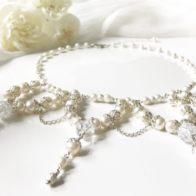 Pearl bridal necklace | By Me Me Jewellery