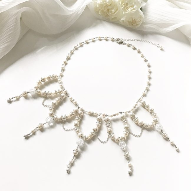 Vintage style bridal necklace | By Me Me Jewellery