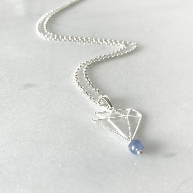 December - Tanzanite and Diamond Necklace | By Me Me Jewellery