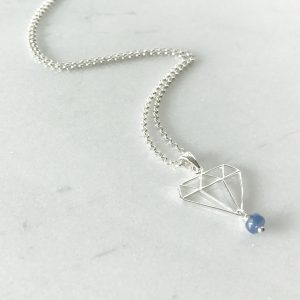 September - Sapphire and Diamond Necklace | By Me Me Jewellery