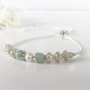 Silver and Aventurine Bracelet | By Me Me Jewellery