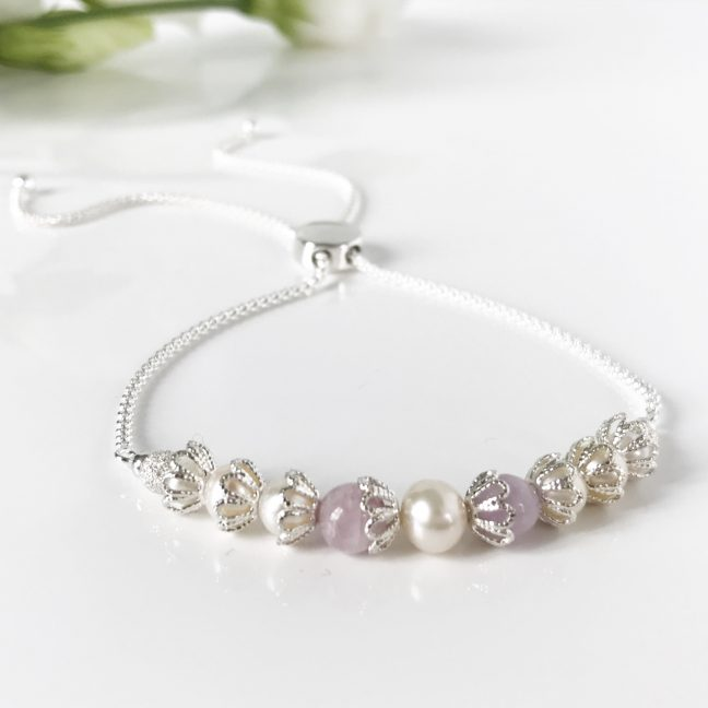 Freshwater Pearl and Kunzite Bracelet | By Me Me Jewellery