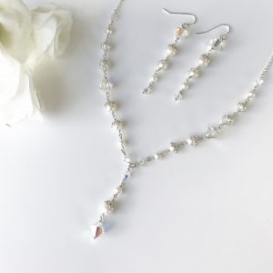 Crystal and Pearl Set | By Me Me Jewellery