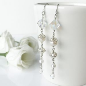 Crystal Bridal Earrings | By Me Me Jewellery