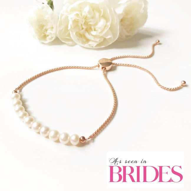Rose Gold Slider Bracelet | As seen in Brides Magazine | By Me Me Jewellery