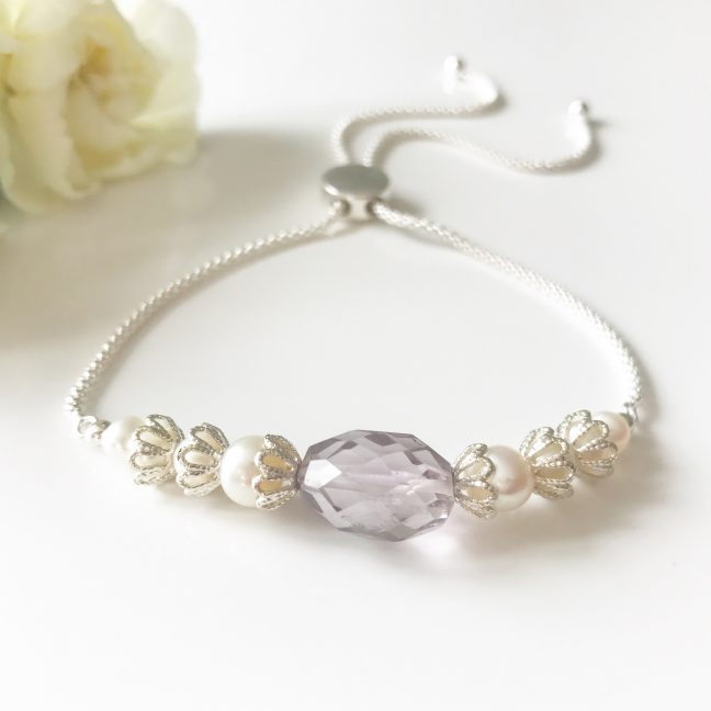 Amethyst Slider Bracelet | Me Me Jewellery