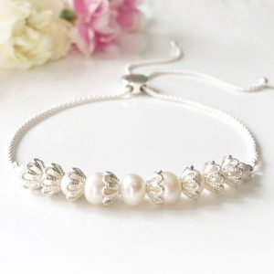 Pearl Bridal Bracelet | By Me Me Jewellery