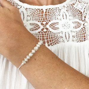 Pearl Slider Bracelet on Wrist | By Me Me Jewellery