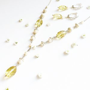 Lemon Quartz Necklace and Earrings | By Me Me Jewellery