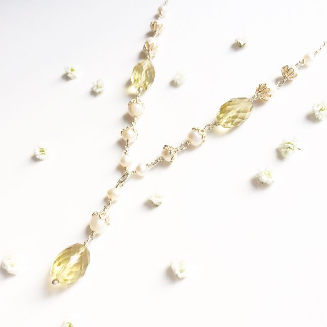 Lemon Quartz Necklace | By Me Me Jewellery