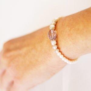 Pink Amethyst Bracelet | By Me Me Jewellery