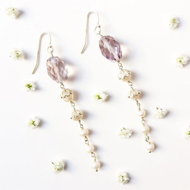 Pink Amethyst Earrings | By Me Me Jewellery
