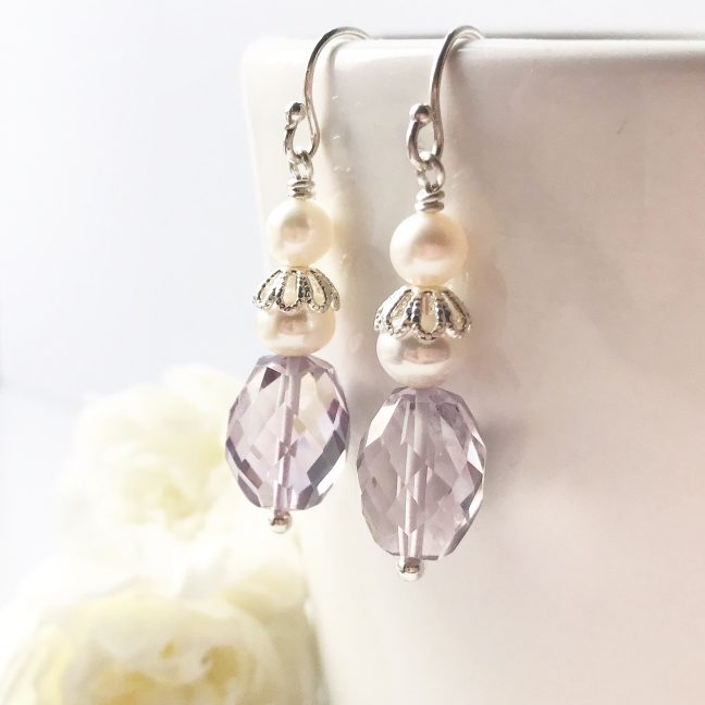 Amethyst Drop Earrings | By Me Me Jewellery