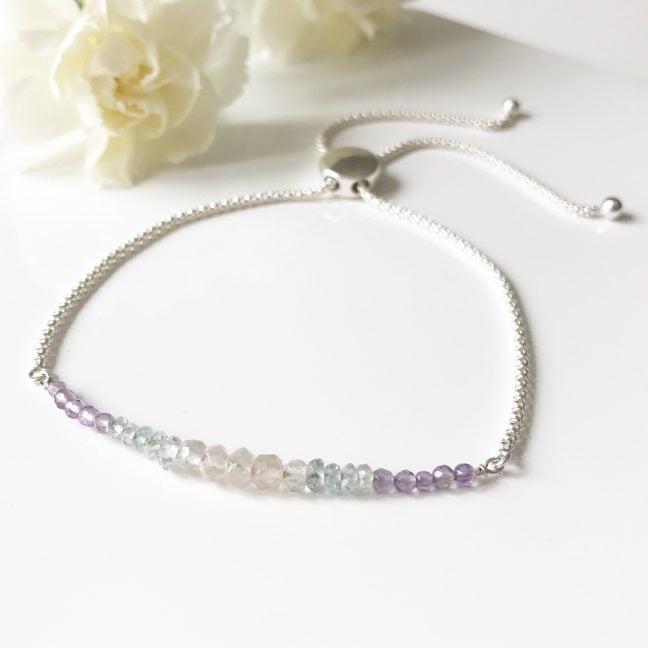 Gemstone Dainty Bracelet | By Me Me Jewellery