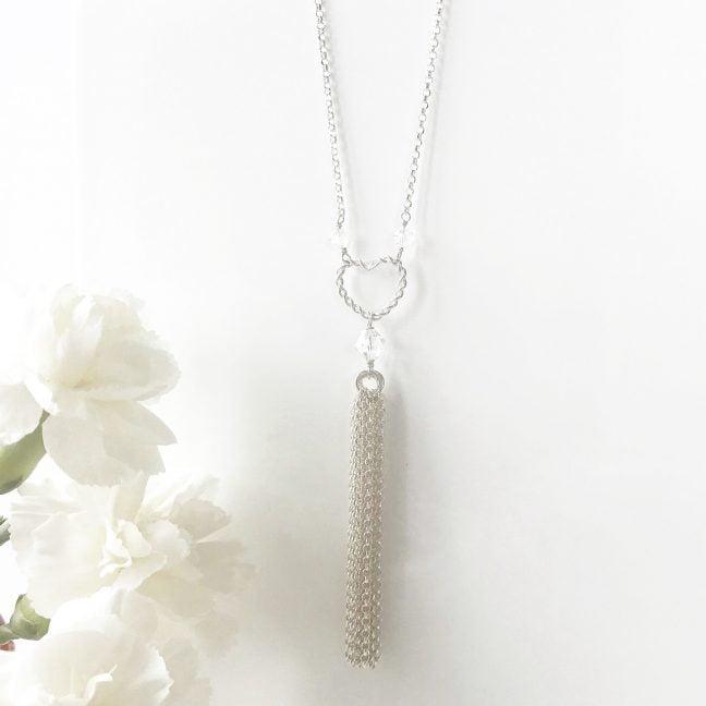 Heart Tassel Necklace | Me Me Jewellery