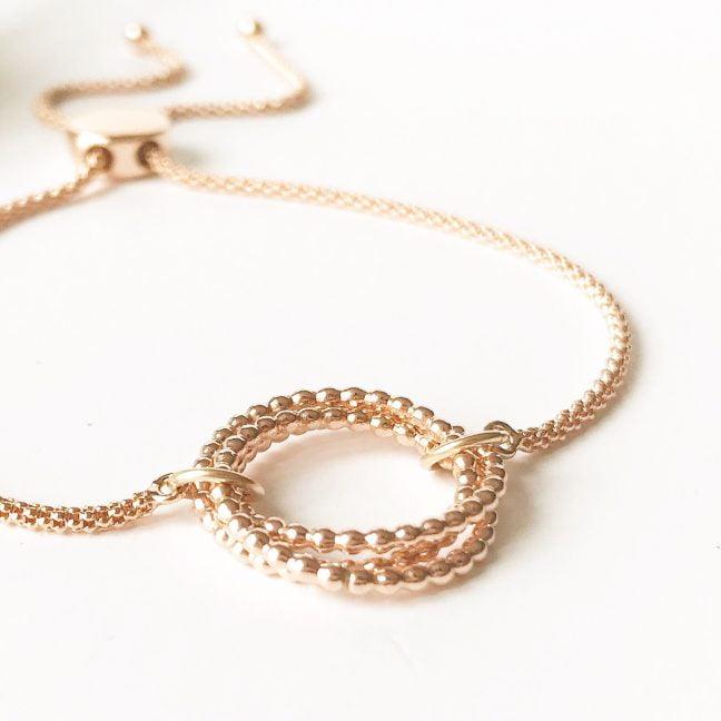 Rose Gold Eternity Slider Bracelet | Me Me Jewellery