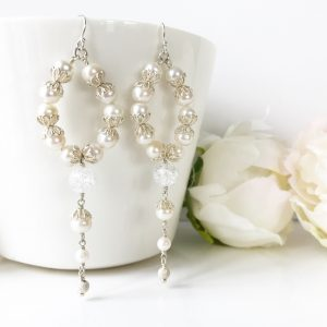 Freshwater Pearl Bridal Earrings | Me Me Jewellery