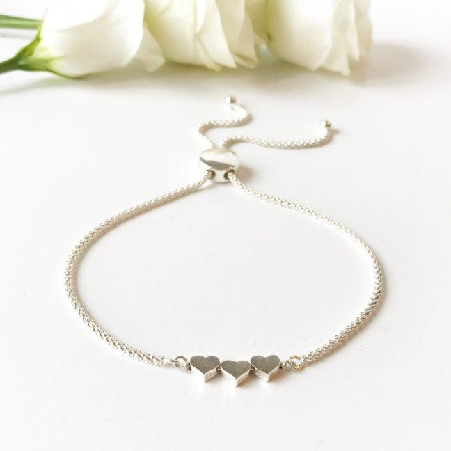 Sterling Silver Heart Bracelet | Me Me Jewellery