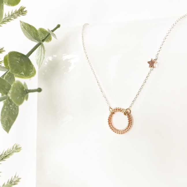 Rose Gold Eternity Necklace | Me Me Jewellery