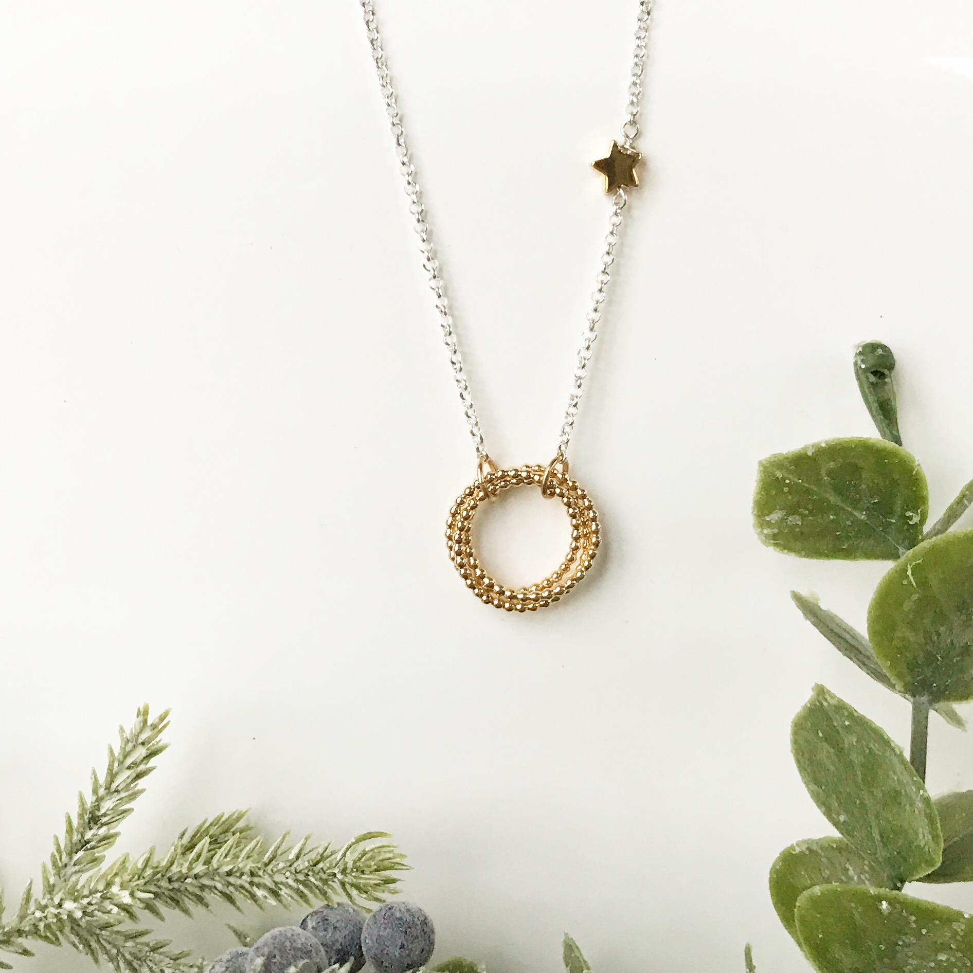 Yellow Gold Eternity Necklace | Me Me Jewellery