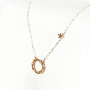 Silver and Rose Gold Necklace   Me Me Jewellery
