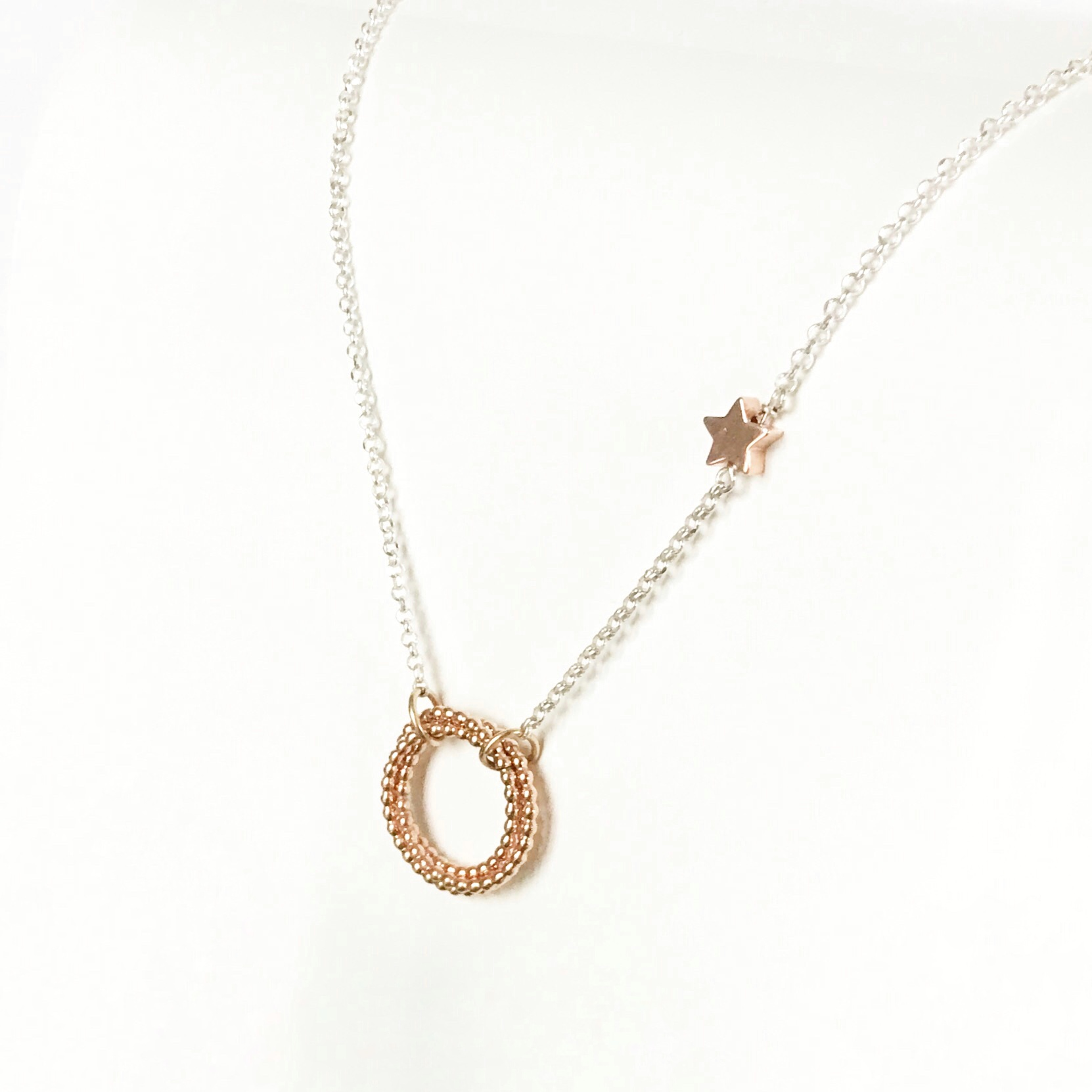 Silver and Rose Gold Necklace | Me Me Jewellery