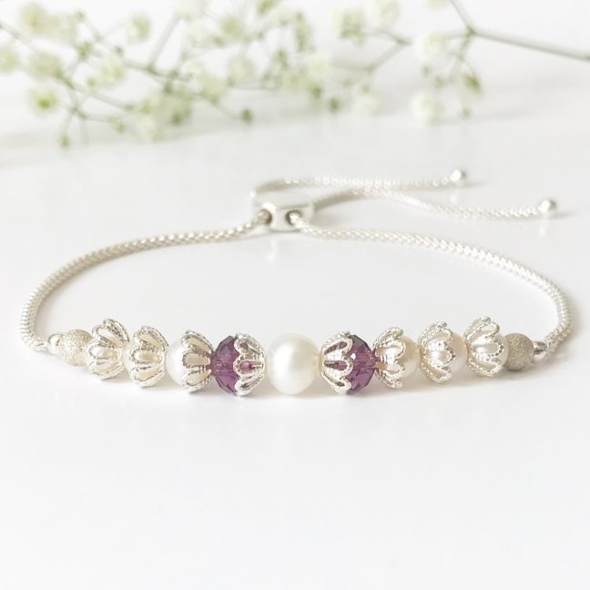 Purple Bridal Bracelet | Me Me Jewellery