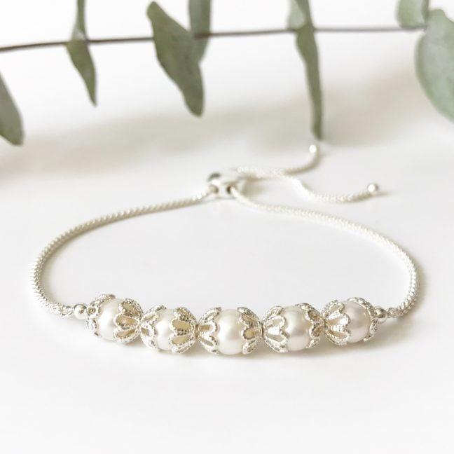 Freshwater Pearl Slider Bracelet | Me Me Jewellery