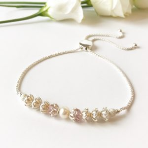 Blush wedding bracelet | Me Me Jewellery