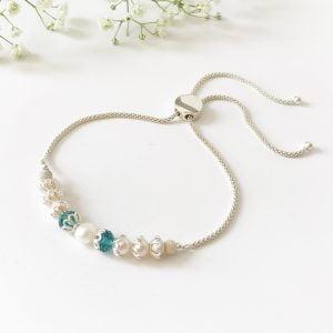 Teal slider bracelet | Me Me Jewellery