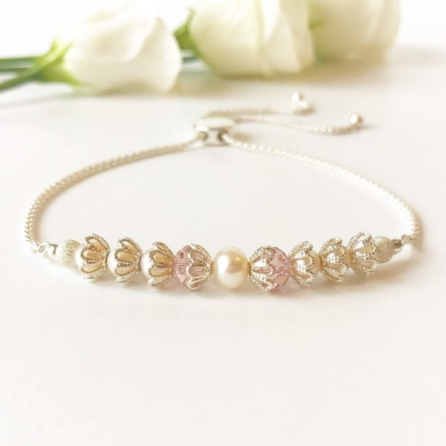 Blush Bridal Bracelet | Me Me Jewellery