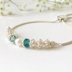 Teal bridal bracelet | Me Me Jewellery
