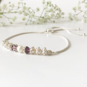 Purple crystal bracelet | Me Me Jewellery